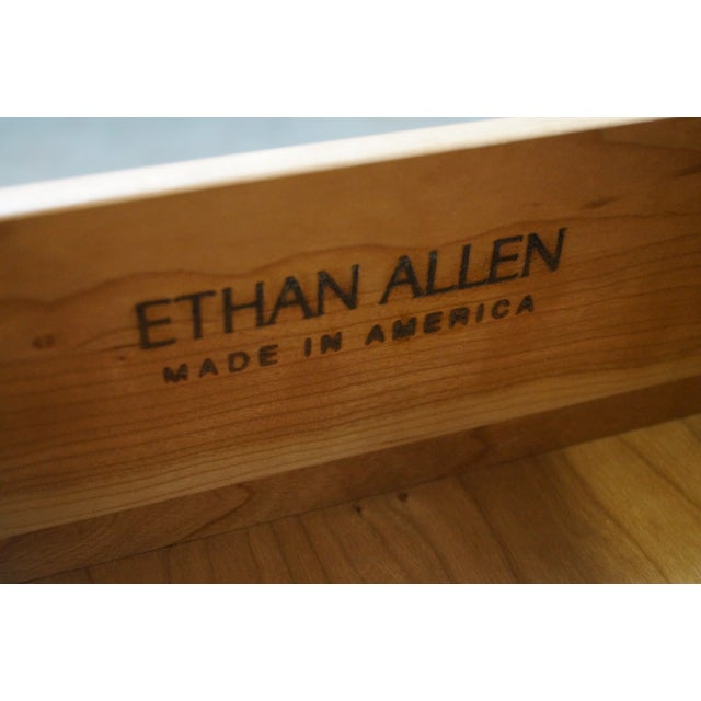 Ethan Allen New Impressions Solid Cherry Dresser With Mirror - Image 7 of 10