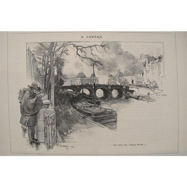 Figurative 1899 Original Cocorico Masthead (Mucha) and Illustration (A. Lepere) For Sale - Image 3 of 4