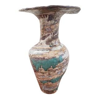 Signed Art Studio Pottery Ceramic Vase For Sale