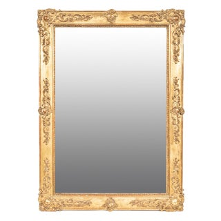 Late 19th Century Vintage French Gilt Rectangular Mirror For Sale