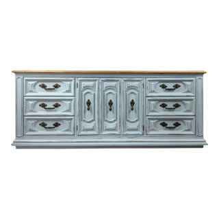 Modern Farmhouse Dresser Country Cottage French Country Distressed Rustic Blue Dresser Buffet, Sideboard Tv Stand Nursery Furniture Bathroom Cabinet