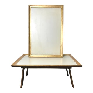 Vintage Hand Made Italian Pf4 Gold Leaf Footed Bed Tray Tables - a Pair For Sale