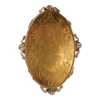 20th Century Hollywood Regency Italianate Vanity Perfume Tray For Sale