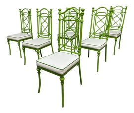 Image of Newly Made Green Dining Chairs