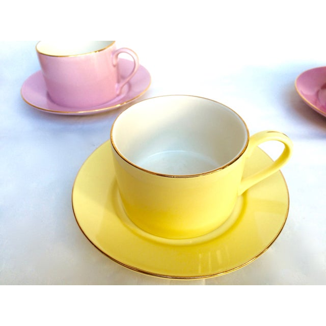 Sherbet-Hued Teacups & Saucers - Set of 6 - Image 4 of 10