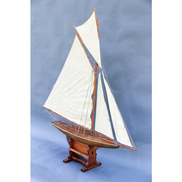 5' Antique English Pond Yacht Cutter For Sale - Image 9 of 9