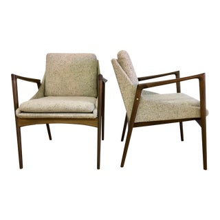 1960s Vintage Ib Kofod Larsen for Selig Occasional Chairs- A Pair For Sale