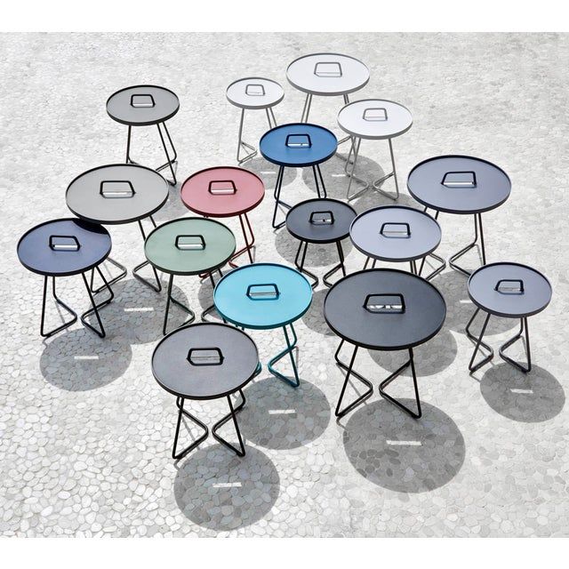 Cane-Line On-The-Move Side Table, Small, Aqua For Sale - Image 4 of 5