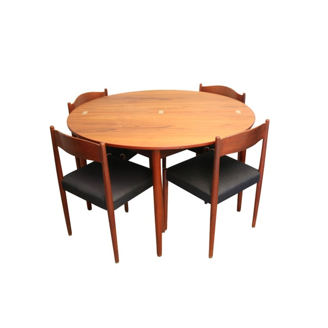 Mid-Century Teak Folding Dining Set - Image 1 of 7