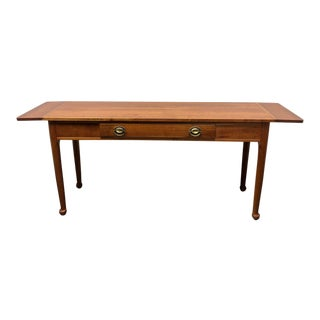 Solid Maple Colonial Style Drop Leaf Console Table For Sale
