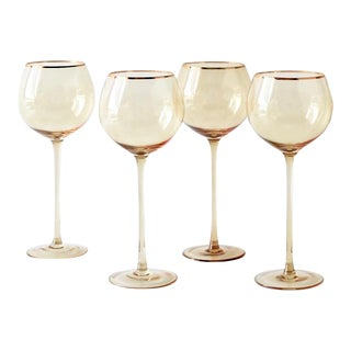Siren Beverageware Oro + Gold White Wine - Set of 4 For Sale