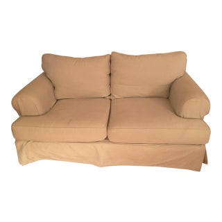 Pottery Barn Beige Slipcover Loveseat