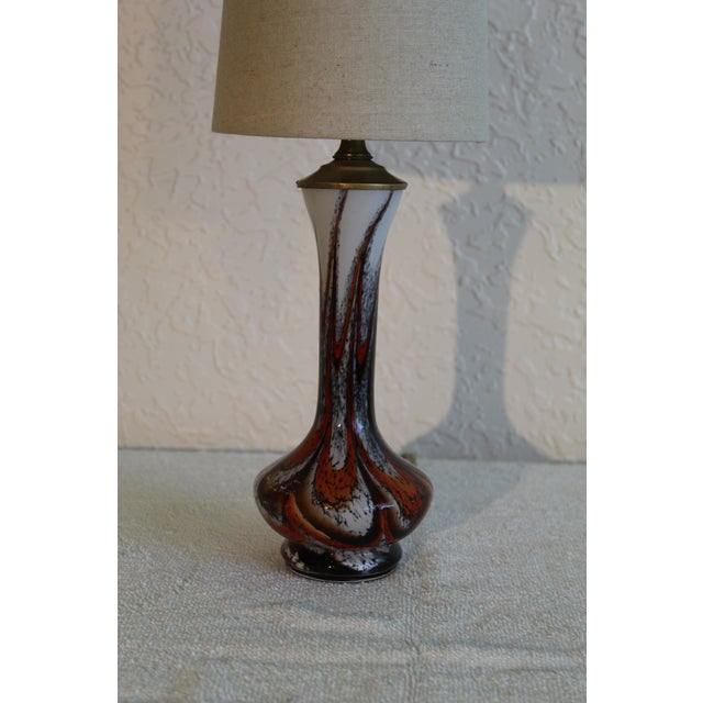 Mid Century Modern Petite Murano Table Lamp For Sale - Image 9 of 9