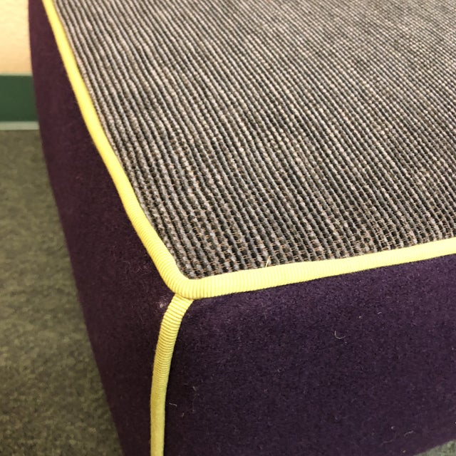 Modern Gervasoni for Environmental Designs Purple Fabric Upholstered Ottoman For Sale In San Francisco - Image 6 of 10