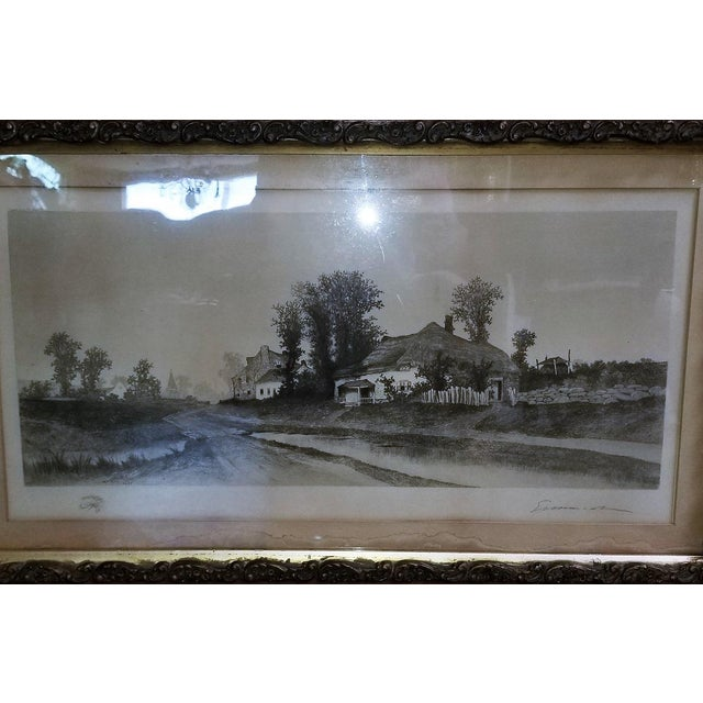 Gold 19c New York Signed Etching by Ernest Christian Rost 1891 For Sale - Image 8 of 9