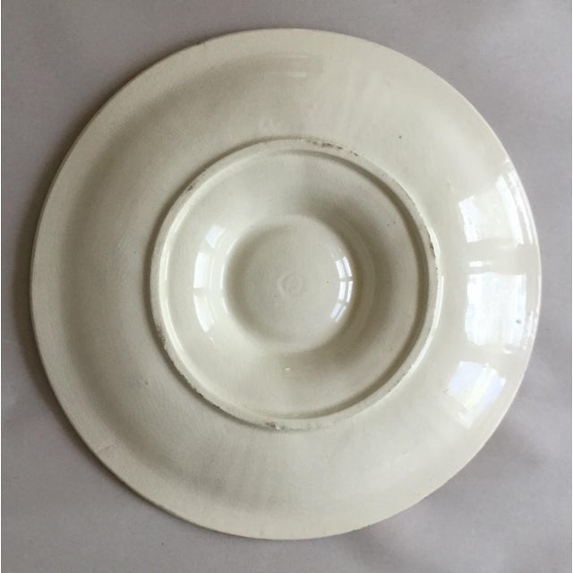 Majolica oyster plate Saint Clement circa 1900. 2 plates are available.