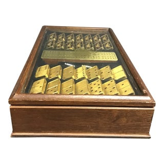 The Franklin Mint House of Faberge Imperial 22 K Gold Plated Dominoes in Box For Sale