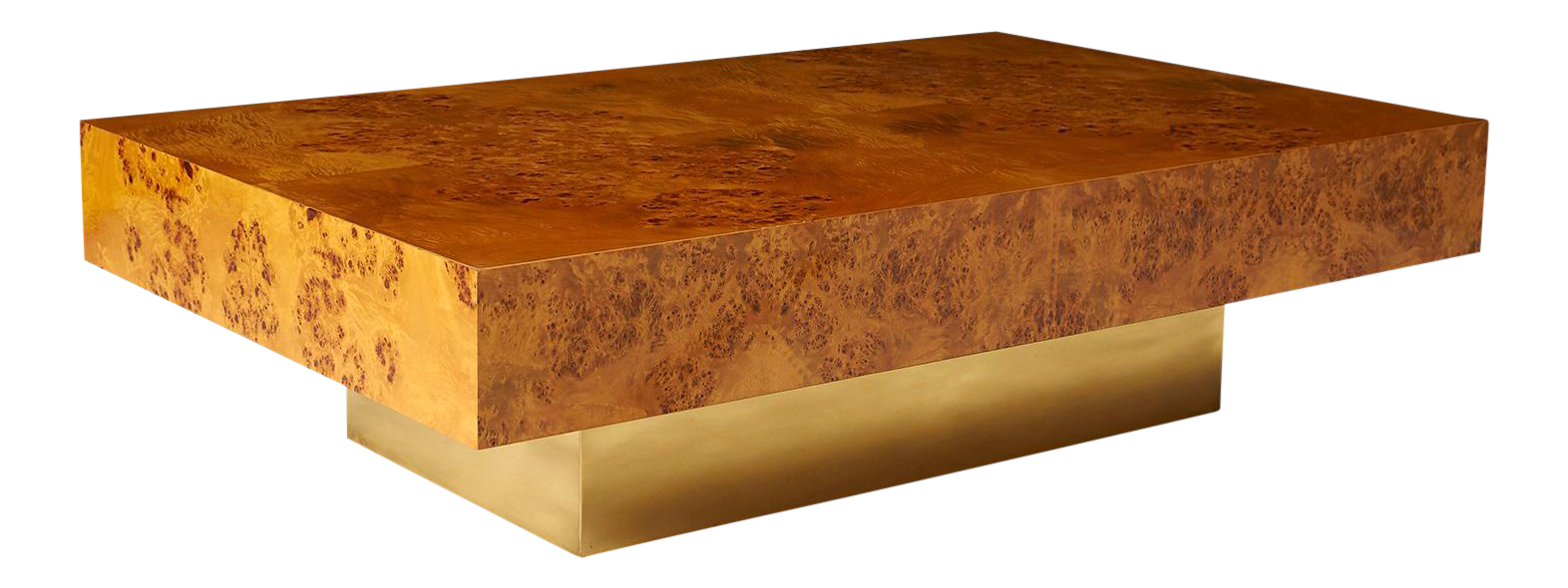 Etonnant Milo Baughman Burled Wood Coffee Table For Sale