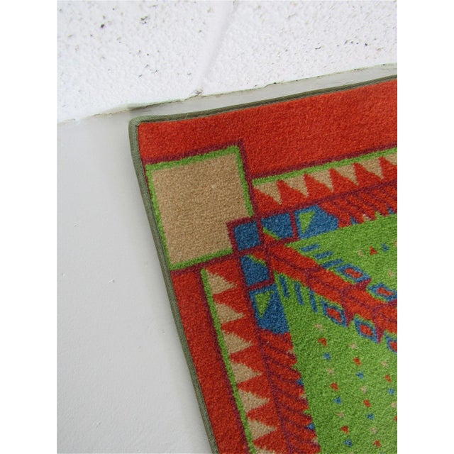 Cotton Frank Lloyd Wright Designed Rug for Az Biltmore by Albert Chase McArthur For Sale - Image 7 of 8