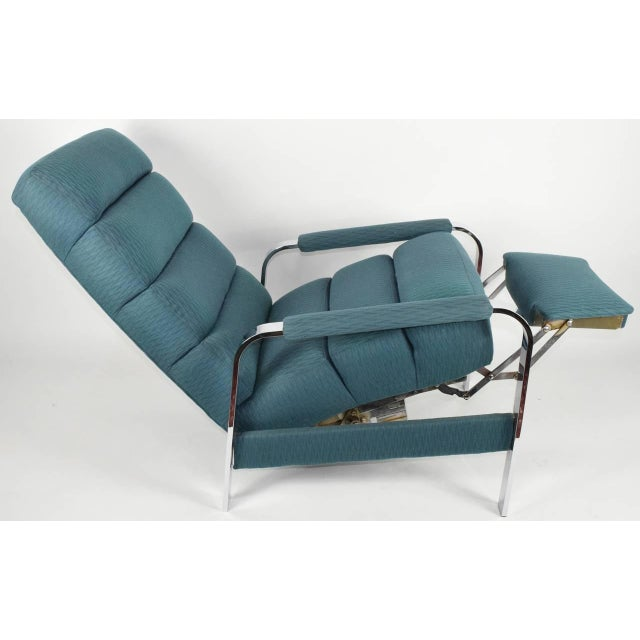 Chrome Milo Baughman recliner For Sale - Image 7 of 8