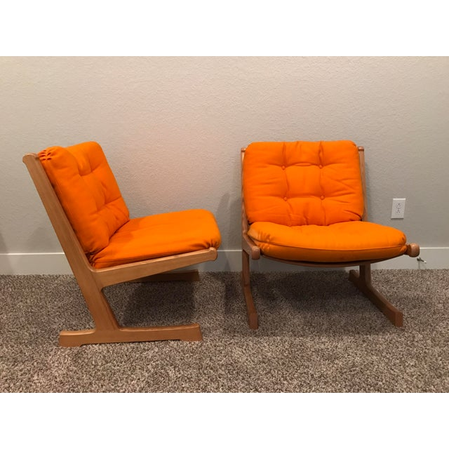 Danish Mid-Century Modern France and Son Siesta Easy Chairs - A Pair - Image 4 of 11