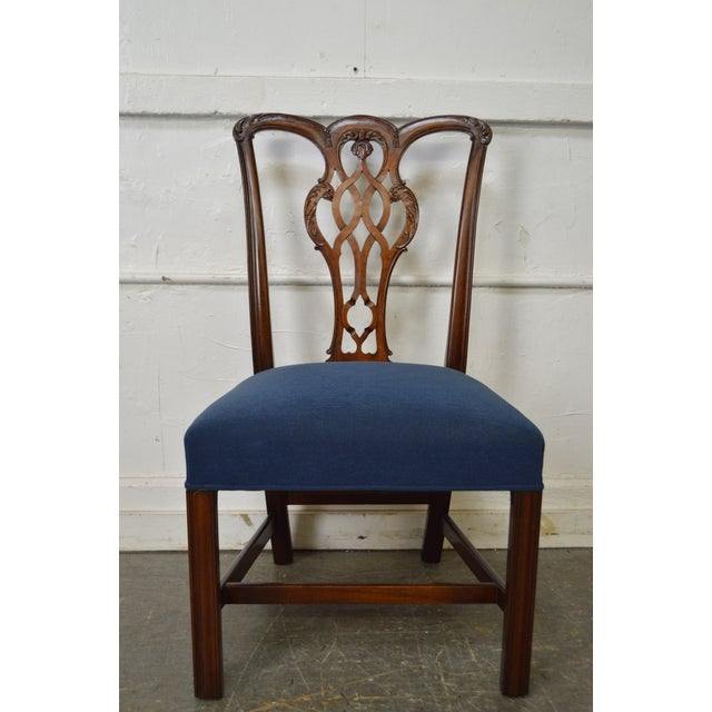 Chippendale Style Set of 8 Custom Mahogany Dining Chairs - Image 9 of 11