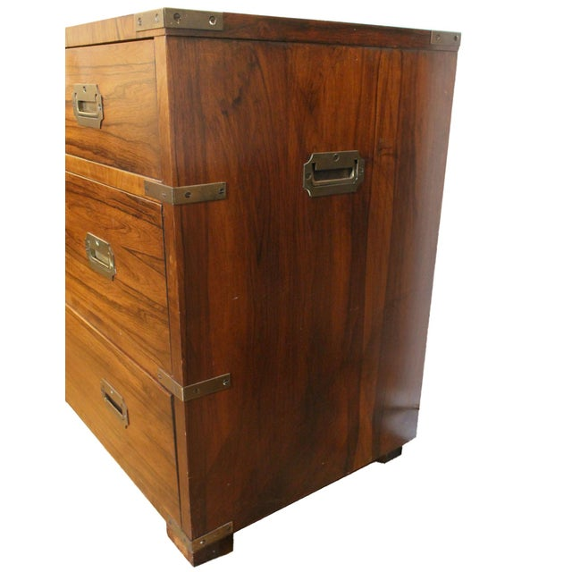 20th Century Campaign John Stuart Dresser Chest of Drawers in Rosewood & Brass For Sale In Los Angeles - Image 6 of 7