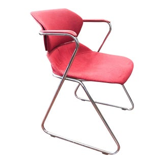 Vintage Red and Chrome Chair