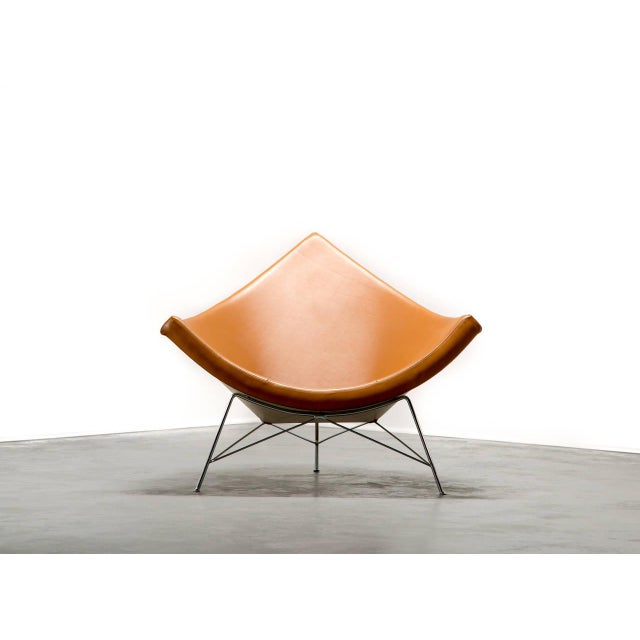 Mid-Century Modern George Nelson for Herman Miller Coconut Chair and Ottoman, Circa 1950's For Sale - Image 3 of 6
