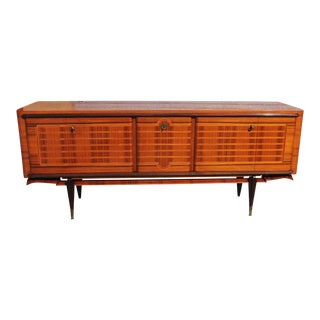 French Art Deco Macassar Ebony Sideboard or Credenza For Sale