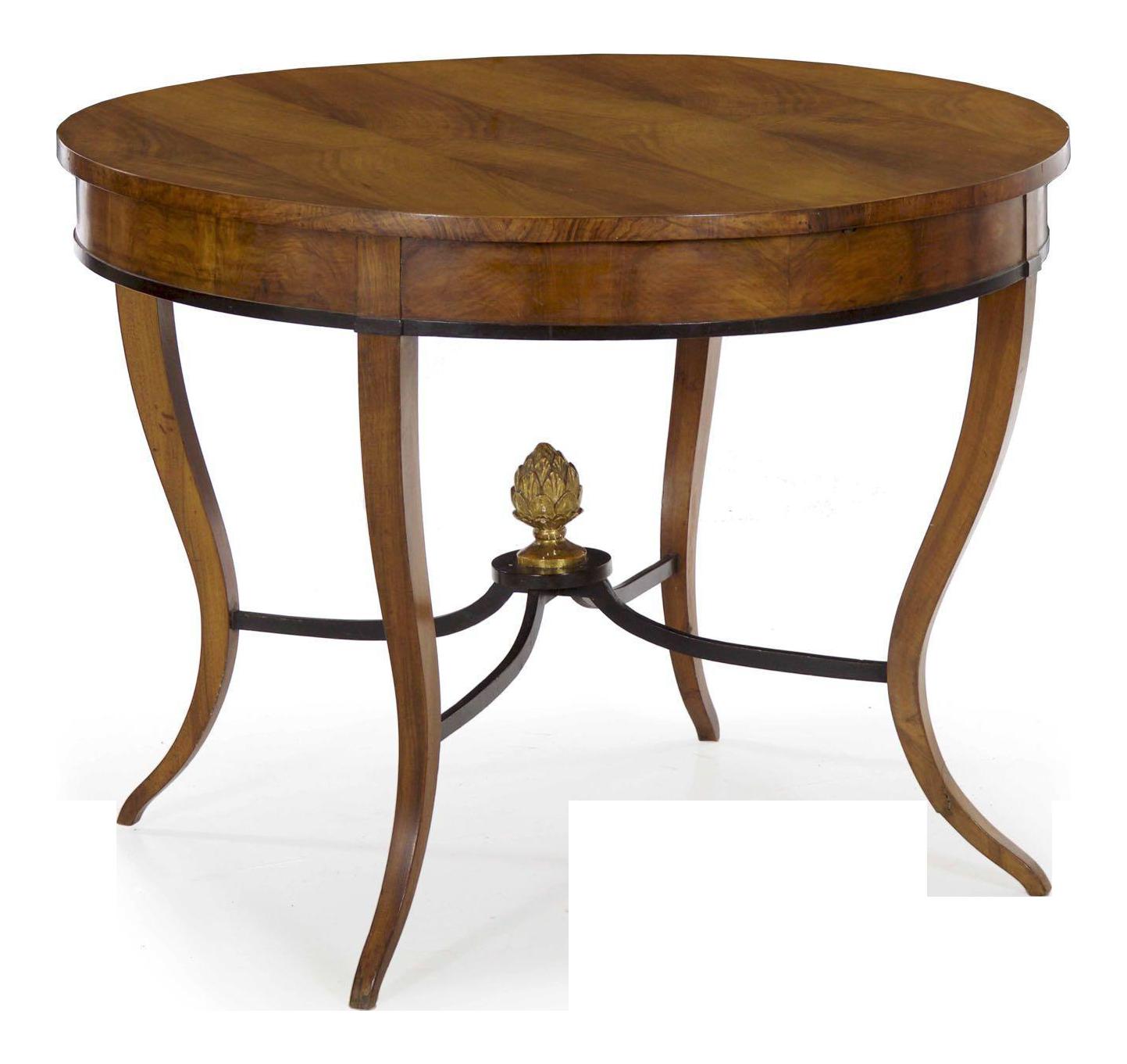 Austrian Biedermeier Fruitwood Antique Center Table Circa 1825