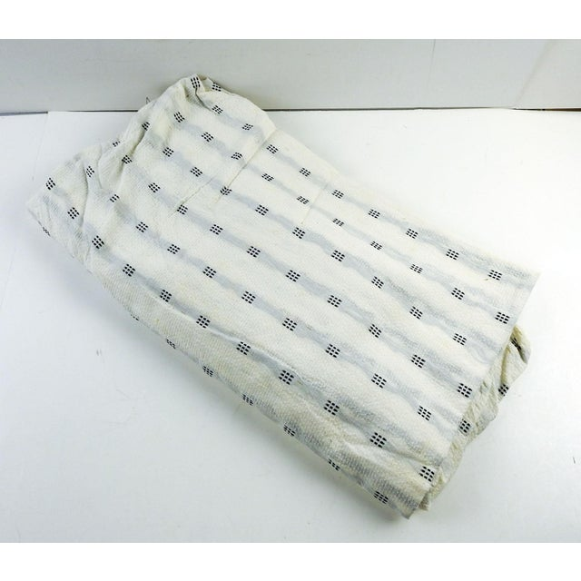 """Over 2 yards 44"""" wide vintage white cotton pique from Mission Valley Mills, New Braufels Texas. Light weight semi sheer..."""