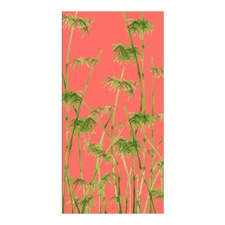 Bambusa Coral Linen Cotton Fabric, 3 Yards For Sale