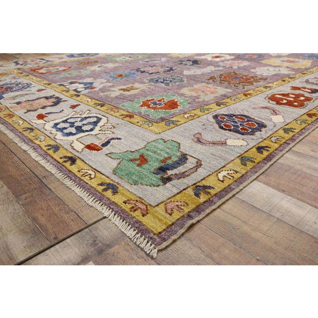 Contemporary Oushak Style Rug - 8′10″ × 12′2″ For Sale - Image 4 of 8