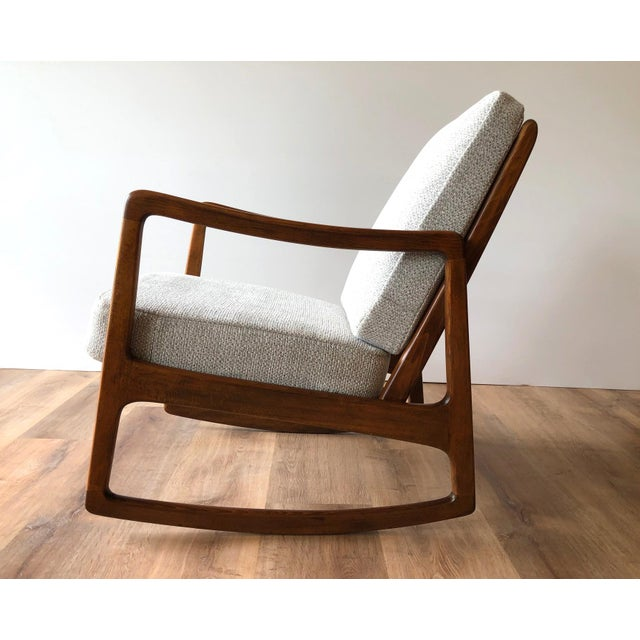 Newly-Upholstered MCM Rocker - Ole Wanscher for France & Daverkosen For Sale - Image 11 of 13