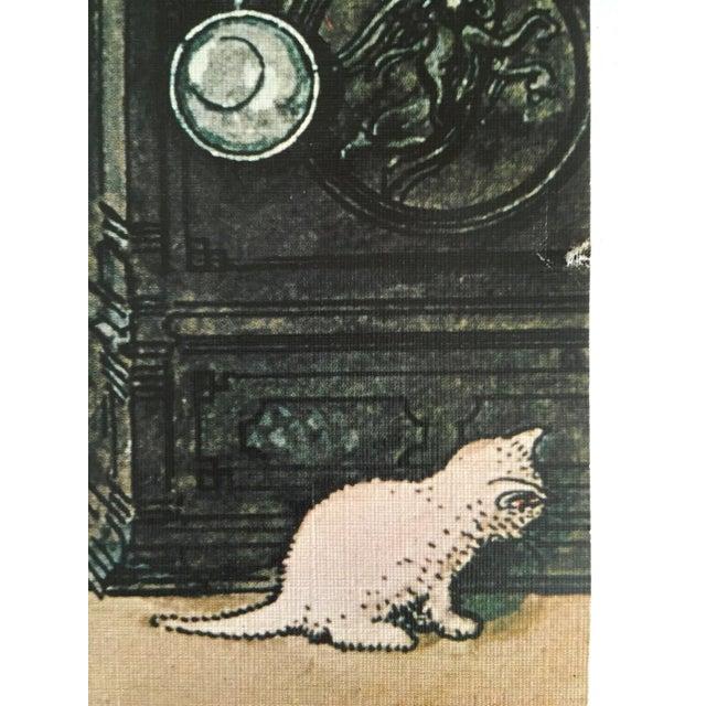 "Carl Larsson Vintage 1972 Original Swedish Lithograph Print Poster "" Koket the Kitchen "" 1898 For Sale - Image 9 of 12"