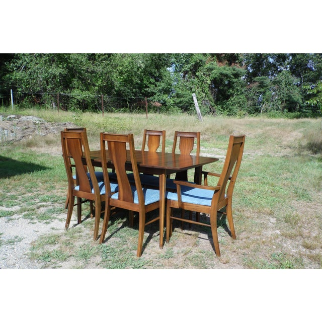 Mid-Century Modern Walnut Dining Set For Sale - Image 11 of 11