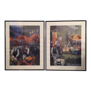 1990s French Bistro Framed Prints - A Pair For Sale