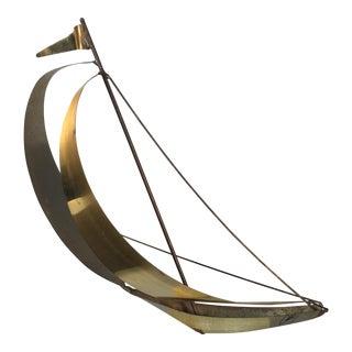 DeMott Brass Metal Sailboat on Quartz