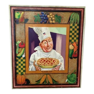 """The Happy Cook"" Union Pacific Railroad Painted Advertising For Sale"