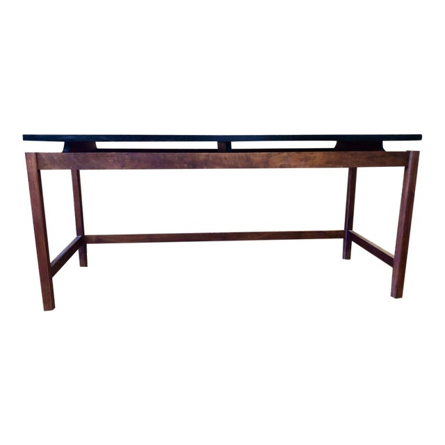 Vintage Jens Risom Walnut Console Table 1960's For Sale