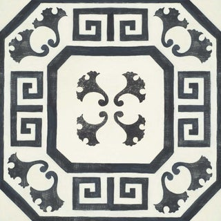 Celerie Kemble Gingko Ink Hardwood Tile - Sample Tile For Sale