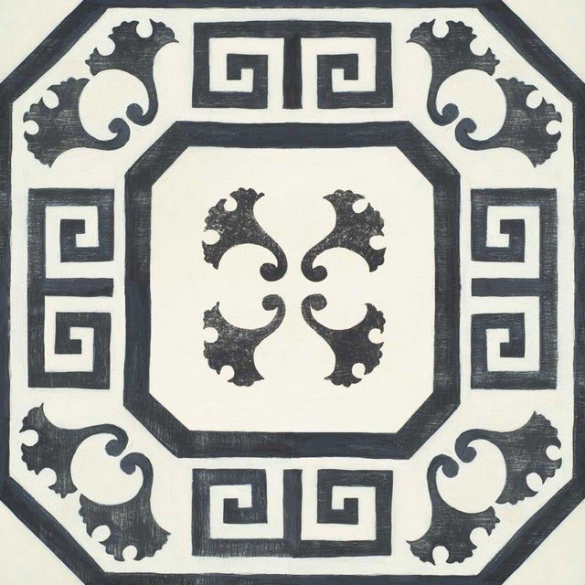 Celerie Kemble Gingko Ink Hardwood Tile - Sample Tile For Sale