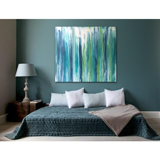 'Waterfall' Original Abstract Painting by Linnea Heide - Image 5 of 8
