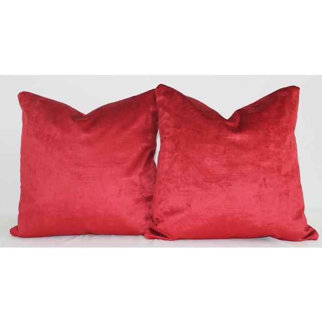 Italian Silk Velvet Pillow Covers - a Pair - Image 2 of 4