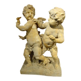 Re-Constituted Stone Cupids Statue from France (2 Available)