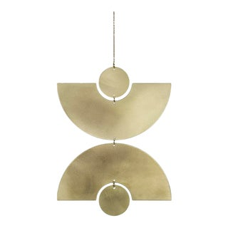 Minimalistic Brass Circle Wall Hanging For Sale