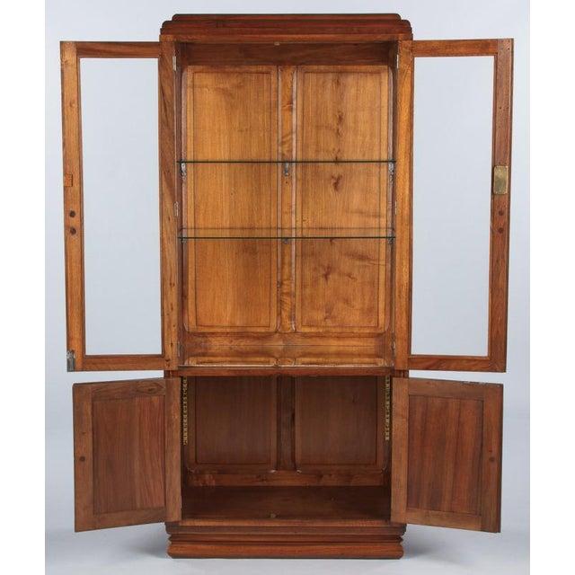 French Art Deco Walnut Vitrine/Display Cabinet - Image 2 of 11