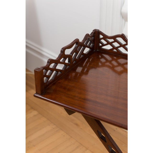 Baker Furniture Mahogany Butler's Table - 2 Pieces - Image 2 of 4