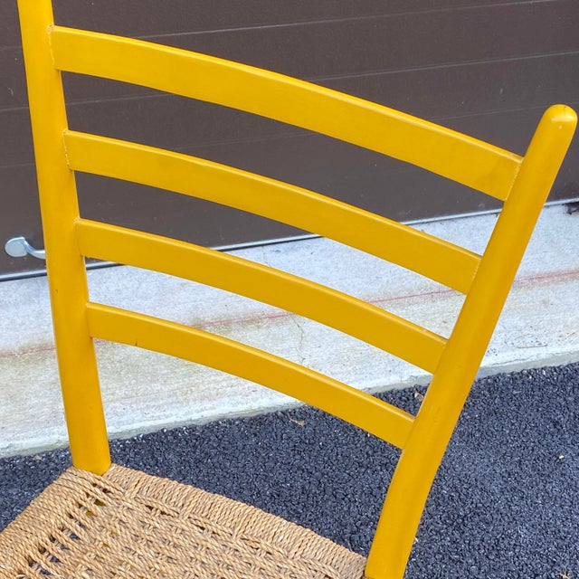 Gio Ponti Woven Rope Gio Ponti Style Side Chair For Sale - Image 4 of 12